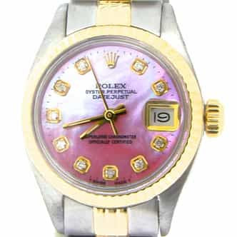 Ladies Rolex Two-Tone 14K/SS Datejust Pink MOP Diamond 6917 (SKU 5344674NMT)