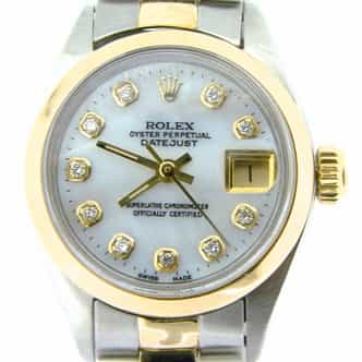 Ladies Rolex Two-Tone Datejust White MOP Diamond (SKU 8169201NMT)