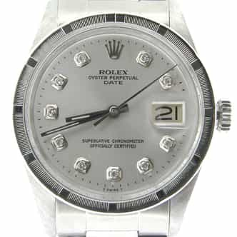 Mens Rolex Stainless Steel Date Silver Diamond 1501 (SKU 3988844NDMT)