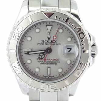 Ladies Rolex Stainless Steel & Platinum Yacht-Master  169622 (SKU Y295340AMT)