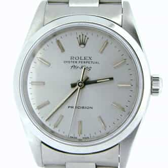 Mens Rolex Stainless Steel Air-King Silver  14000 (SKU S613615NCMT)