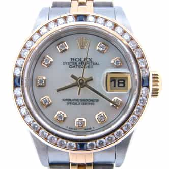 Ladies Rolex Two-Tone Datejust White MOP Diamond 79173 (SKU P113528NMT)