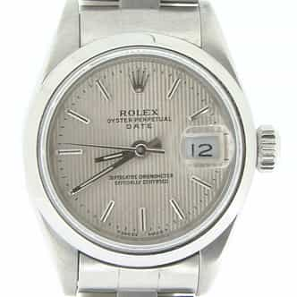 Ladies Rolex Stainless Steel Date Silver  69160 (SKU U815662NMT)