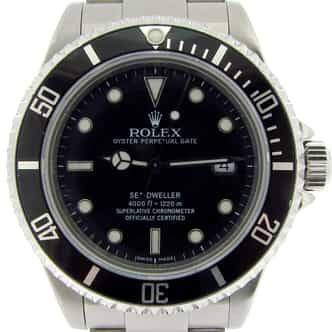 Mens Rolex Stainless Steel Sea-Dweller Black  16600 (SKU A387431NBC)
