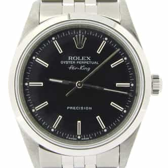 Mens Rolex Stainless Steel Air-King Black  14000 (SKU U630206NJUBCMT)