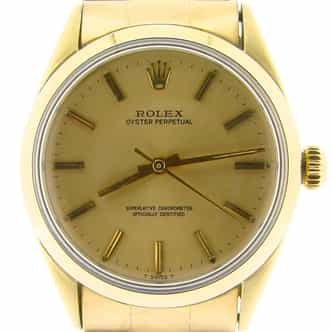 Mens Rolex 14K Gold Shell Oyster Perpetual Champagne  1024 (SKU 2108808GLDNNCMT)