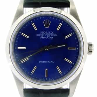 Mens Rolex Stainless Steel Air-King Blue  14000 (SKU T341855NBLKCMT)