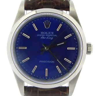 Mens Rolex Stainless Steel Air-King Blue  14000 (SKU T341855NBRNCMT)