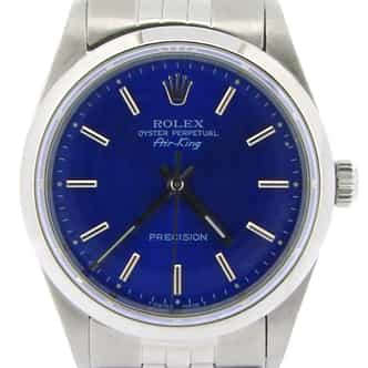Mens Rolex Stainless Steel Air-King Blue  14000 (SKU T341855NJUBCMT)