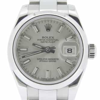 Ladies Rolex Stainless Steel Datejust Silver 179160 (SKU G596182AMT)