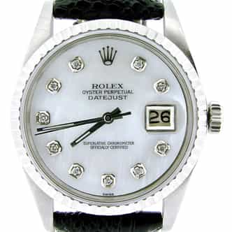Mens Rolex Stainless Steel Datejust White MOP Diamond 1603 (SKU 3830688NMT)