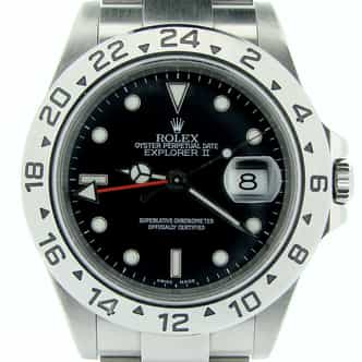 Mens Rolex Stainless Steel Explorer II Black  16570 (SKU D469785NMT)