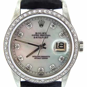 Mens Rolex Stainless Steel Datejust White MOP Diamond (SKU 6753878NMT)
