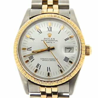 Mens Rolex Two-Tone Date White  15053 (SKU 8692537NMT)