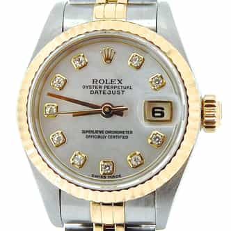 Ladies Rolex Two-Tone 18K/SS Datejust White MOP Diamond 69173 (SKU U139203NMT)