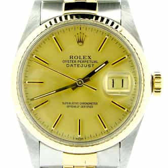 Mens Rolex Two-Tone Datejust Champagne  16013 (SKU 7125957NBCMT)