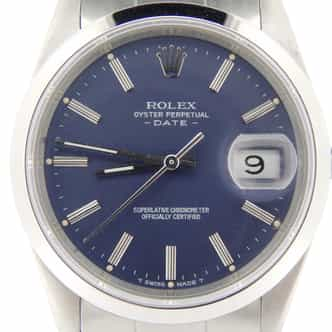 Mens Rolex Stainless Steel Date Blue  15200 (SKU E144748NMT)