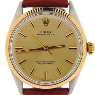 Mens Rolex Two-Tone 14K/SS Oyster Perpetual Champagne  1005 (SKU 2298849NCMT)