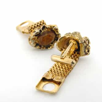Genuine Gold Plated Mesh Cufflink Set (SKU BTCL001N)