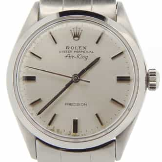 Mens Rolex Stainless Steel Air-King Silver  5500 (SKU 2976615NCMT)