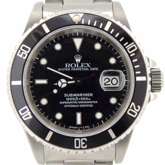 Mens Rolex Stainless Steel Submariner Black  16610 (SKU T821868NNBCMT)