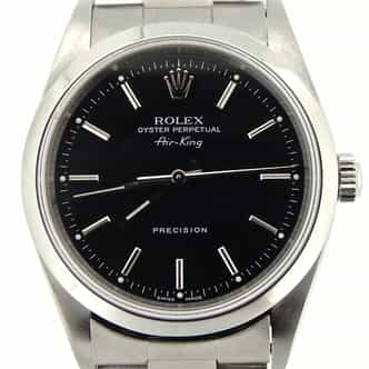 Mens Rolex Stainless Steel Air-King Black  14000 (SKU P603522NCMT)