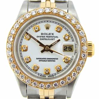 Ladies Rolex Two-Tone Datejust White Diamond 69173 (SKU 8808137NJUBMT)