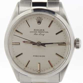 Mens Rolex Stainless Steel Air-King Silver  5500 (SKU 2615844NOYSCMT)