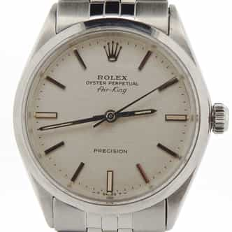 Mens Rolex Stainless Steel Air-King Silver  5500 (SKU 2615844NJUBCMT)