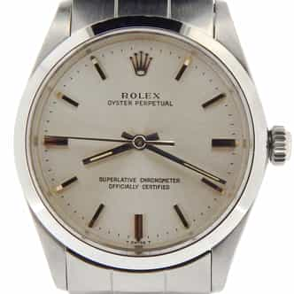 Mens Rolex Stainless Steel Oyster Perpetual Silver  1002 (SKU 1676732NNCMT)