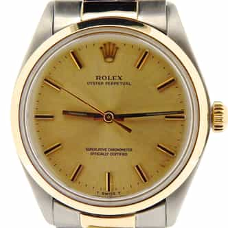 Mens Rolex Two-Tone 14K/SS Oyster Perpetual Champagne  1002 (SKU 5200402NCMT)