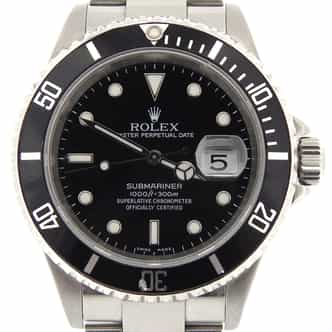 Mens Rolex Stainless Steel Submariner Black  16610T (SKU D695103NNBCMT)
