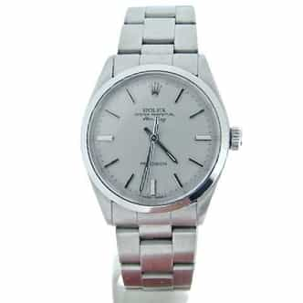 Mens Rolex Stainless Steel Air-King Silver  5500 (SKU 5500AKSVRCMT)