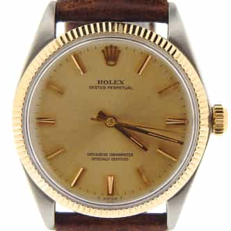 Mens Rolex Two-Tone 14K/SS Oyster Perpetual Champagne  1005 (SKU 1108853NBRNNCMT)