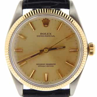 Mens Rolex Two-Tone 14K/SS Oyster Perpetual Champagne  1005 (SKU 1108853NBLKNNCMT)
