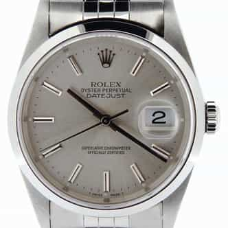 Mens Rolex Stainless Steel Datejust Silver  16200 (SKU T422158NMT)
