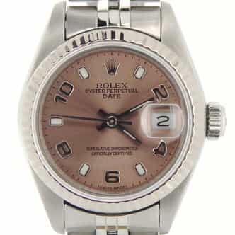Ladies Rolex Stainless Steel Date Salmon Arabic 69174 (SKU 9819001NMT)