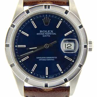 Mens Rolex Stainless Steel Date Blue  15210 (SKU Y824704NBRNMT)