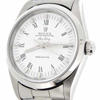Mens Rolex Stainless Steel Air-King White Roman 14000 (SKU A366537NCMT)