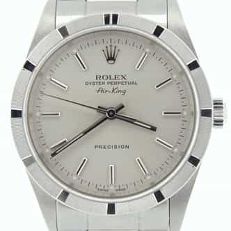 Mens Rolex Stainless Steel Air-King Silver  14010 (SKU P287962NCMT)
