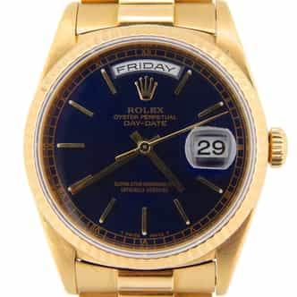 Mens Rolex 18K Gold Day-Date President Black  18238 (SKU W527599NPRZMT)
