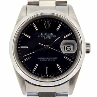 Mens Rolex Stainless Steel Date Black  15200 (SKU F839207NMT)