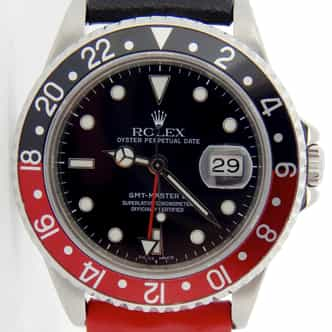 Mens Rolex Stainless Steel GMT Master II Black & Red Coke  16710 (SKU E836604NCCSNNMT)