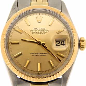Mens Rolex Two-Tone 14K/SS Datejust Champagne  1601 (SKU 2472145MT)