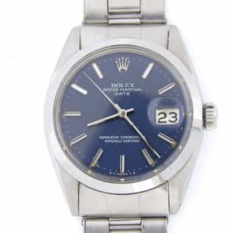 Mens Rolex Stainless Steel Date Blue  1500 (SKU 1450364DMT)