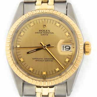 Mens Rolex Two-Tone 14K/SS Date Champagne  1505 (SKU 1756769MT)
