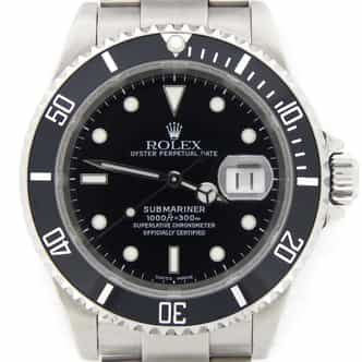 Mens Rolex Stainless Steel Submariner Black  16610 (SKU K386772NNBCMT)