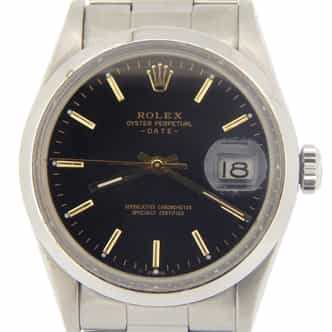Mens Rolex Stainless Steel Date Black  15000 (SKU 7072798MT)