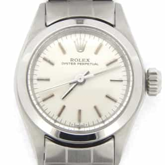 Ladies Rolex Stainless Steel Oyster Perpetual Silver  6618 (SKU 2055113CMT)