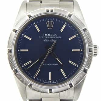Mens Rolex Stainless Steel Air-King Blue  14010 (SKU N554626MCMT)